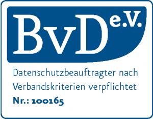 BvD e.V. Zertifikat | Datenschutz Opitz | Gernot Opitz