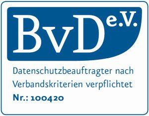 BvD e.V. Zertifikat | Datenschutz Opitz | Petra Opitz